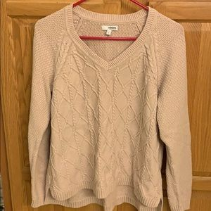 Sonoma pale pink sweater.
